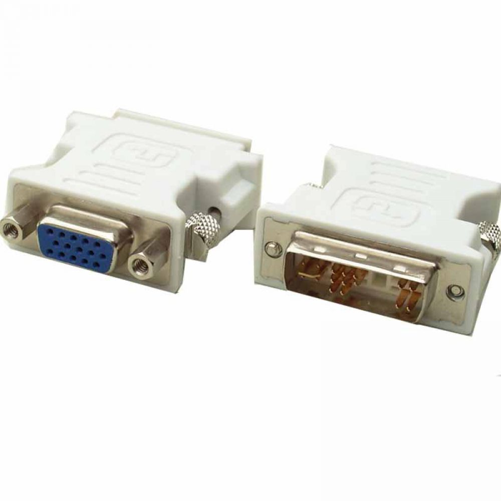 DP Adapter DVI - VGA 12 pin, White - 17116