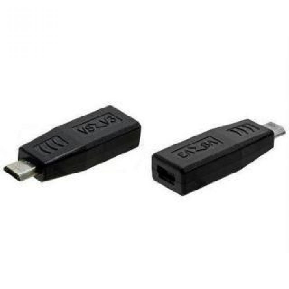 DeTech Adapter Micro USB M to Micro USB F, Black - 17135