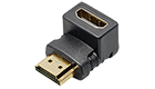 C 201 HDMI Angled Adapter HDMI-jack 19 pin to HDMI-plug 19 pin-17121