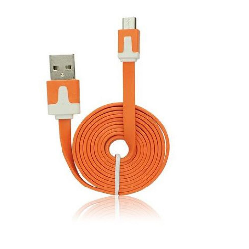 OEM PoweR cable USB - micro USB, Flat - 14221