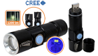 Mini USB Rechargeable OEM LED CREE Q5 Flashlight-FK0315