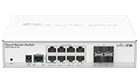 MikroTik CRS112-8G-4S-IN Switch Managed 400MHz, 128MB, 8xGE, 4xSFP, Layer 3, PoE