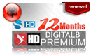 Digitalb Premium HD 12 Month (Albania) κανάλια channels renewal subscription