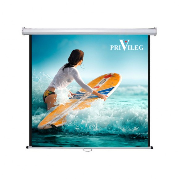 "PRIVILEG DMV220 Manual Projection Screen CLASSIC 110"", 2.20x1.65m, 4:3, roll up down"