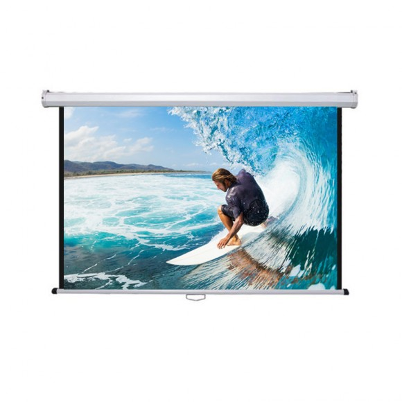 "PRIVILEG DMW220 Manual Projection Screen CLASSIC 99"", 2.20x1.24m, 16:9, roll up down"
