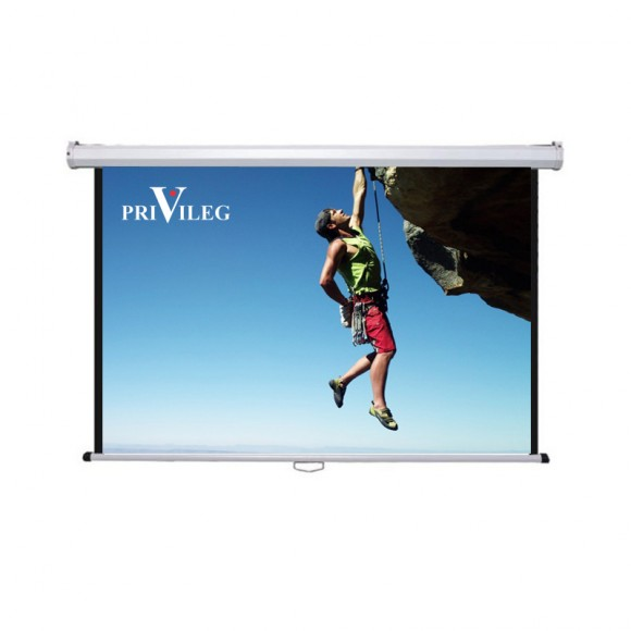 "PRIVILEG DMW280 Manual Projection Screen CLASSIC 127"", 2.80x1.57m, 16:9, roll up down roll up down"