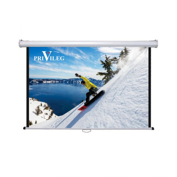"PRIVILEG DMW300 Manual Projection Screen PRIVILEG CLASSIC 136"", 3.00x1.69m, 16:9, roll up downroll"