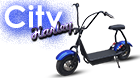 HARLEY ELECTRIC SCOOTER CITY 800W BLUE/RED