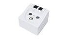 Μπριζα TV ΔΟΡΥΦΟΡΙΚΗ SAT-RADIO-ETHERNET Antenna Sockets FD 11