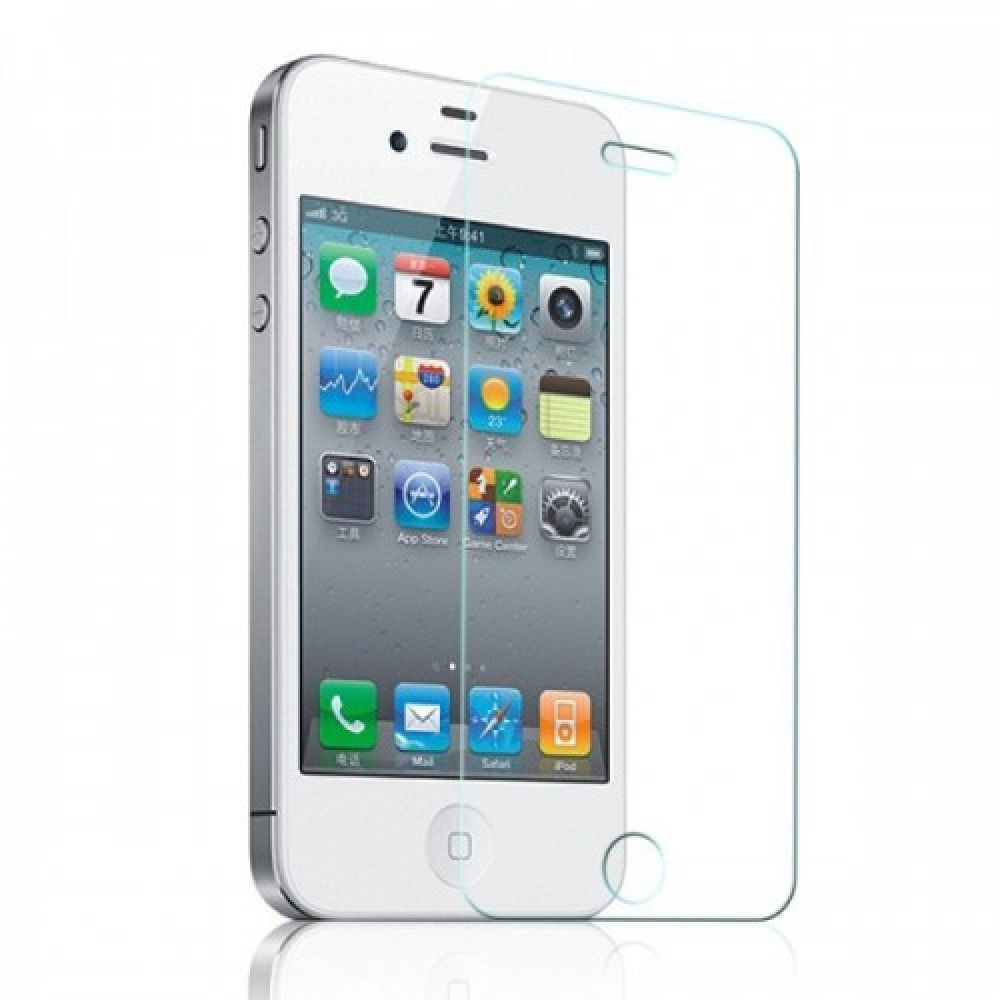 OEM Glass protector tempered glass for iPhone 4/4S, 0.3 mm, Transparent - 52025