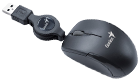 Genius Micro Traveler Wired Mouse Black