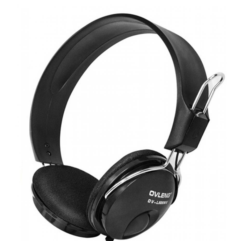 Ovleng OV-L808MV Headsets for computer with microphone, Black - 20214