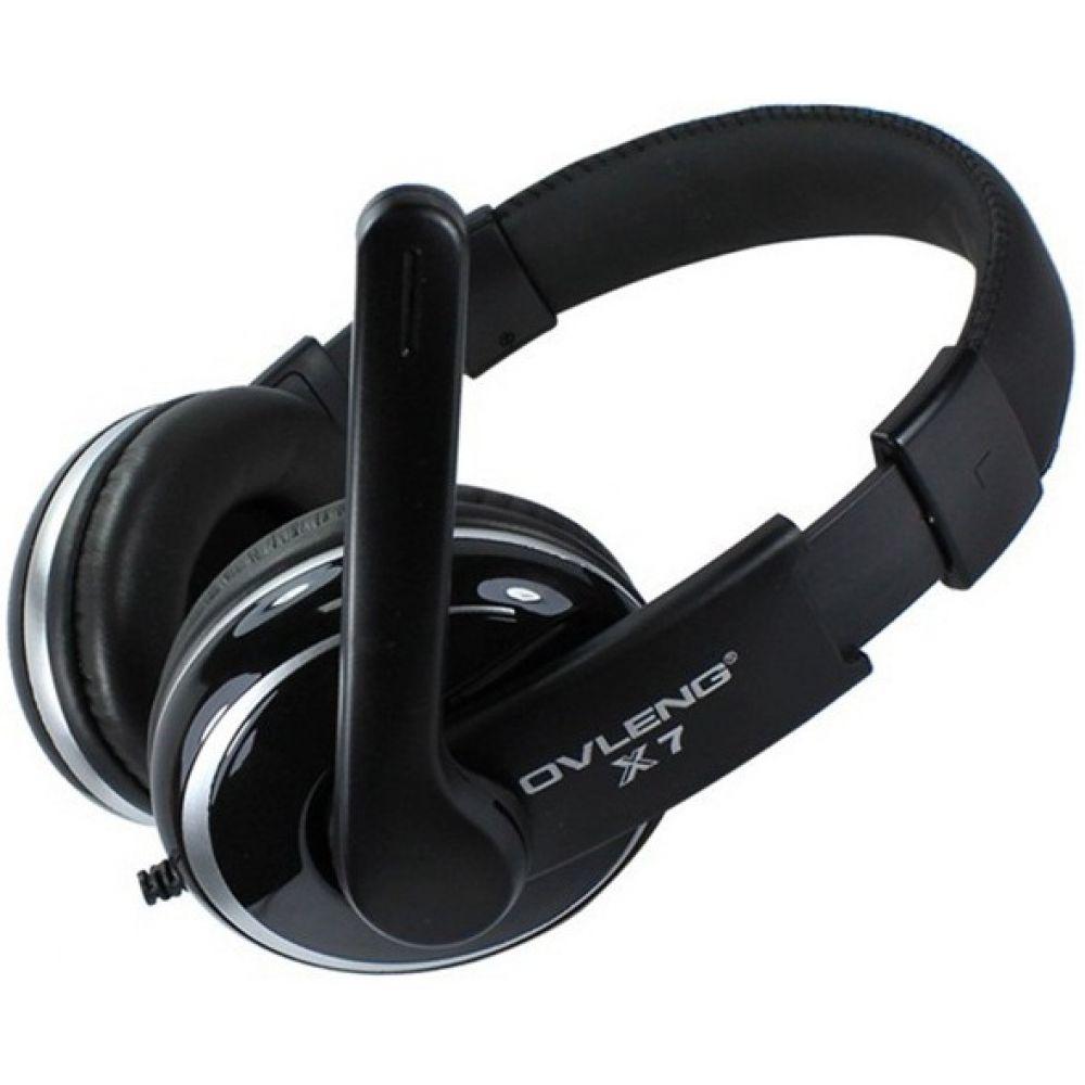 Ovleng X-7  Headsets for computer with microphone, Black - 20222