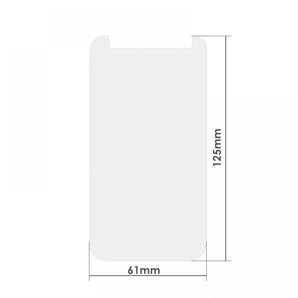 "OEM Universal glass protector for iphone X, For 4.3"", 0.26mm, Transperant - 52262"