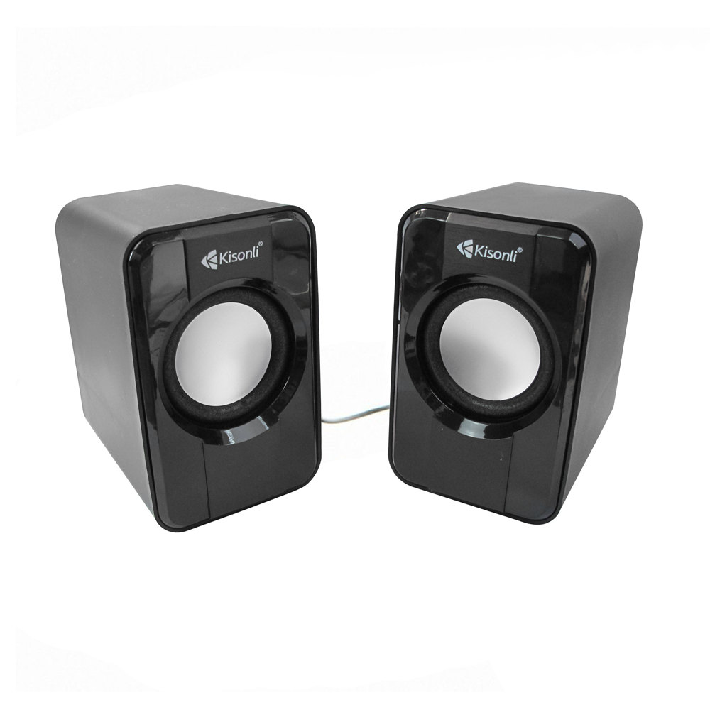 Kisonli S-444 Speakers 2x3W, USB, Black - 22060