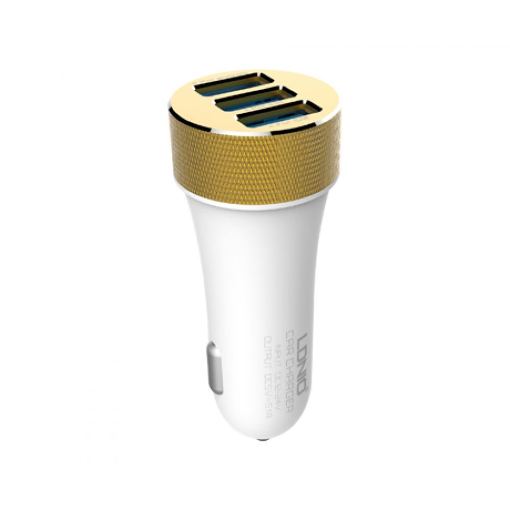 LDINIO DL-C50 DC12-24V 5V/5.1A, For Iphone 5/5S/5C/6/6S, Car charger 3 х USB, with cable - 14270