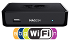 MAG 254 W1 IPTV Multimedia Box with USB Wi-Fi N150