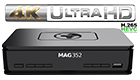 Infomir MAG 352 Premium IPTV/OTT Set-Top-Box, BCM75839, Linux 3.3, OpenGL ES 2.0, HEVC, 512 MB Flash