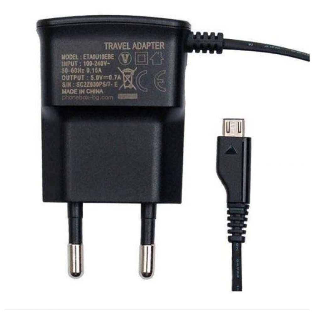 OEM Network charger 5V/1A 220A Universal, With cable Micro USB - 14262