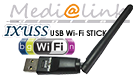 Medialink IXUSS USB WiFi Wireless LAN Adapter 150 Mbit/s with 3dBi antenna