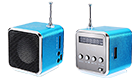 OEM Mini MP3 Player TDV-26 - Fm Radio Aluminum Speaker