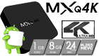 MXQ 4K RK3229 Android 6.0 Smart TV Box 8GB ROM H.264/H.265 WIFI LAN HDMI DLNA AirPlay Miracast