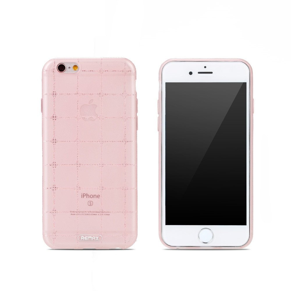 Remax Ice Clear Protector for iPhone 6/6S Plus ,TPU, Slim, Pink - 51407