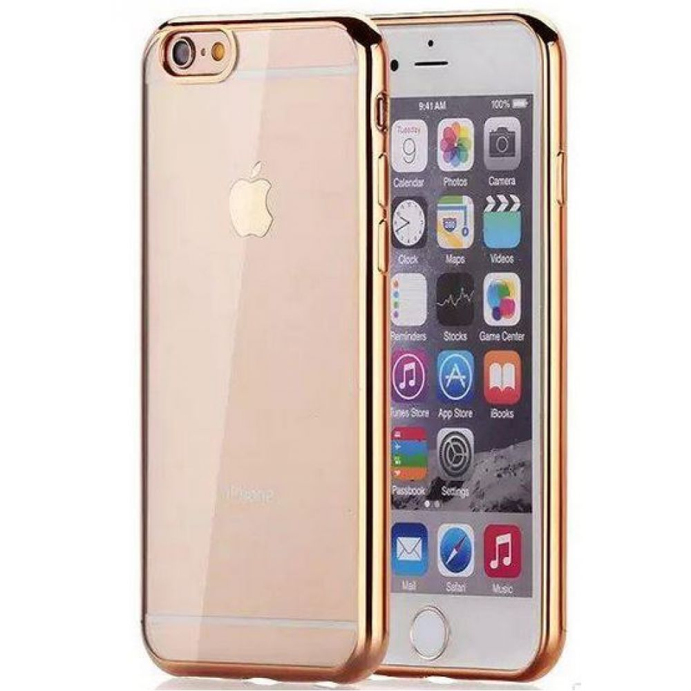 OEM Protector for iPhone 6/6S, Sillicon, Ultra thin 0.33mm, Gold - 51390
