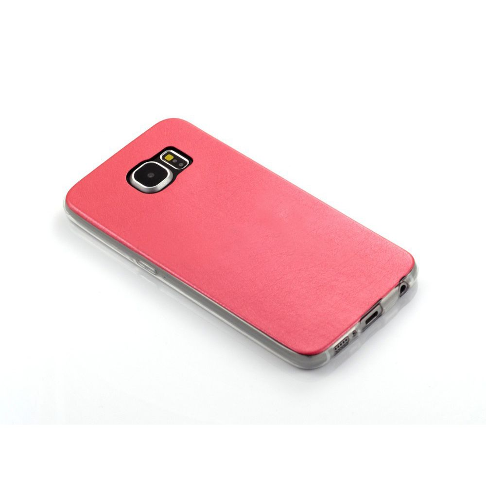 OEM Protector for Samsung S6, With imitation of leather, Silicone, Different colors - 51335
