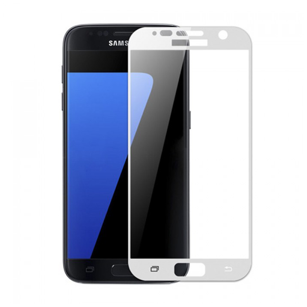 OEM Glass protector Full 3D, For Samsung Galaxy S7, 0,3mm, White - 52299