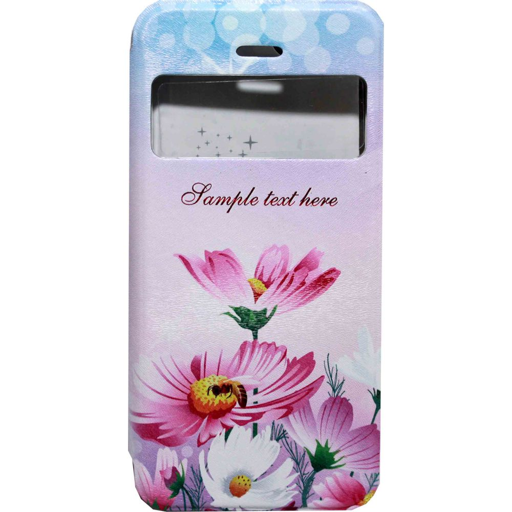 OEM Case for iPhone 6/6S, Imitation leather, Leather, Flower print -51150