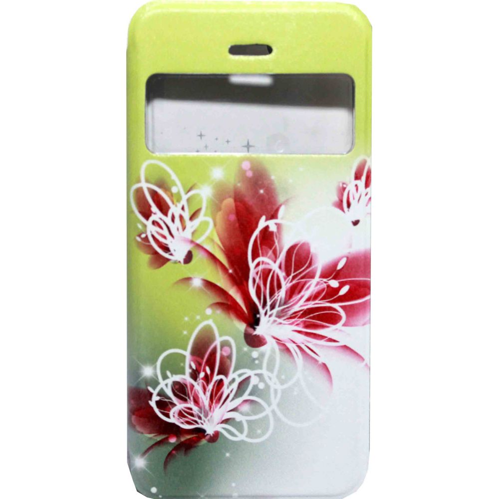 OEM Case for iPhone 6/6S, Imitation leather, Leather, Flower print -51151