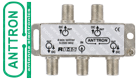 ANTTRON R845 4 WAY SAT/TV Splitter