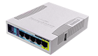 MikroTik RB951UI-2HND Access Point Soho 2.4GHz 1000mW 802.11b/g/n, 600MHz, 128MB, 5xFE, 1xUSB