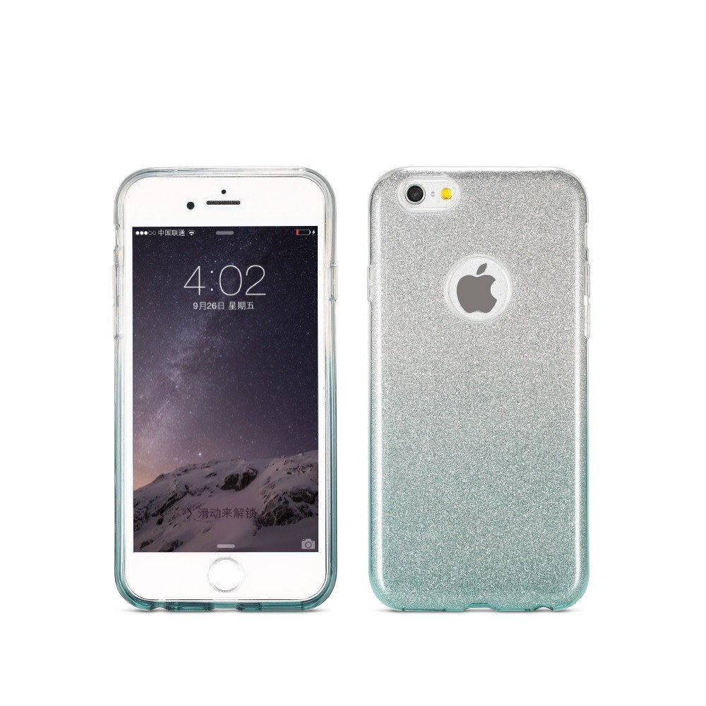 Remax Glitter Charming, Protector for iPhone 6/6S Plus , TPU, Slim, Gray - 51412