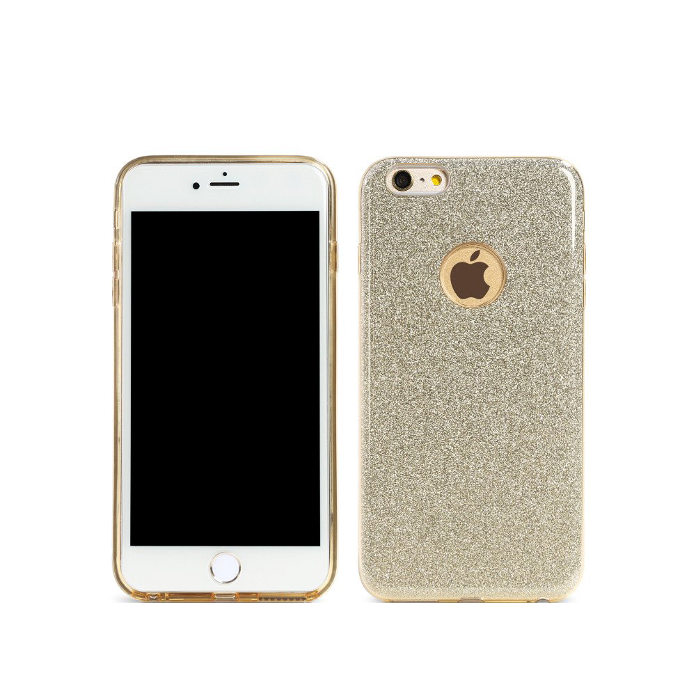 Remax Glitter Protector for iPhone 6/6S Plus, TPU, Slim, Gold - 51429