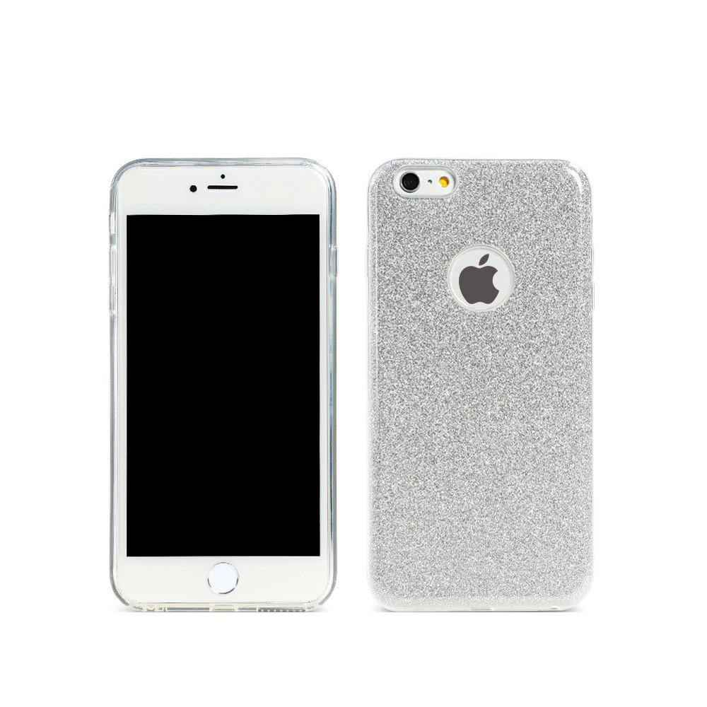 Remax Glitter, Protector for iPhone 6/6S Plus, TPU, Slim, Silver - 51430
