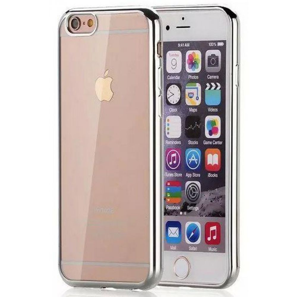 OEM Protector for iPhone 6/6S, Sillicon, Ultra thin 0.33mm, Silver - 51388