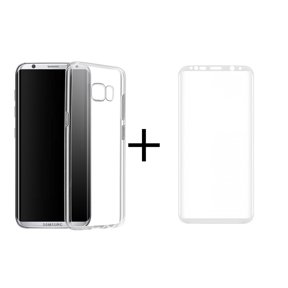 Remax Crystal 3D Glass protector + Case, for Samsung Galaxy S8 Plus, White - 52304