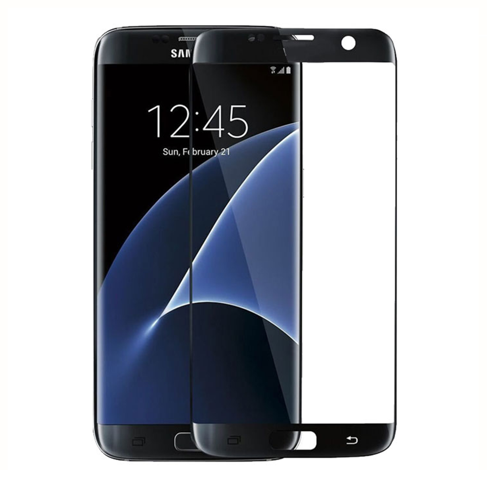 OEM Fullscreen Glass protector, For Samsung Galaxy S7 Edge, 0.3mm, Black - 52284