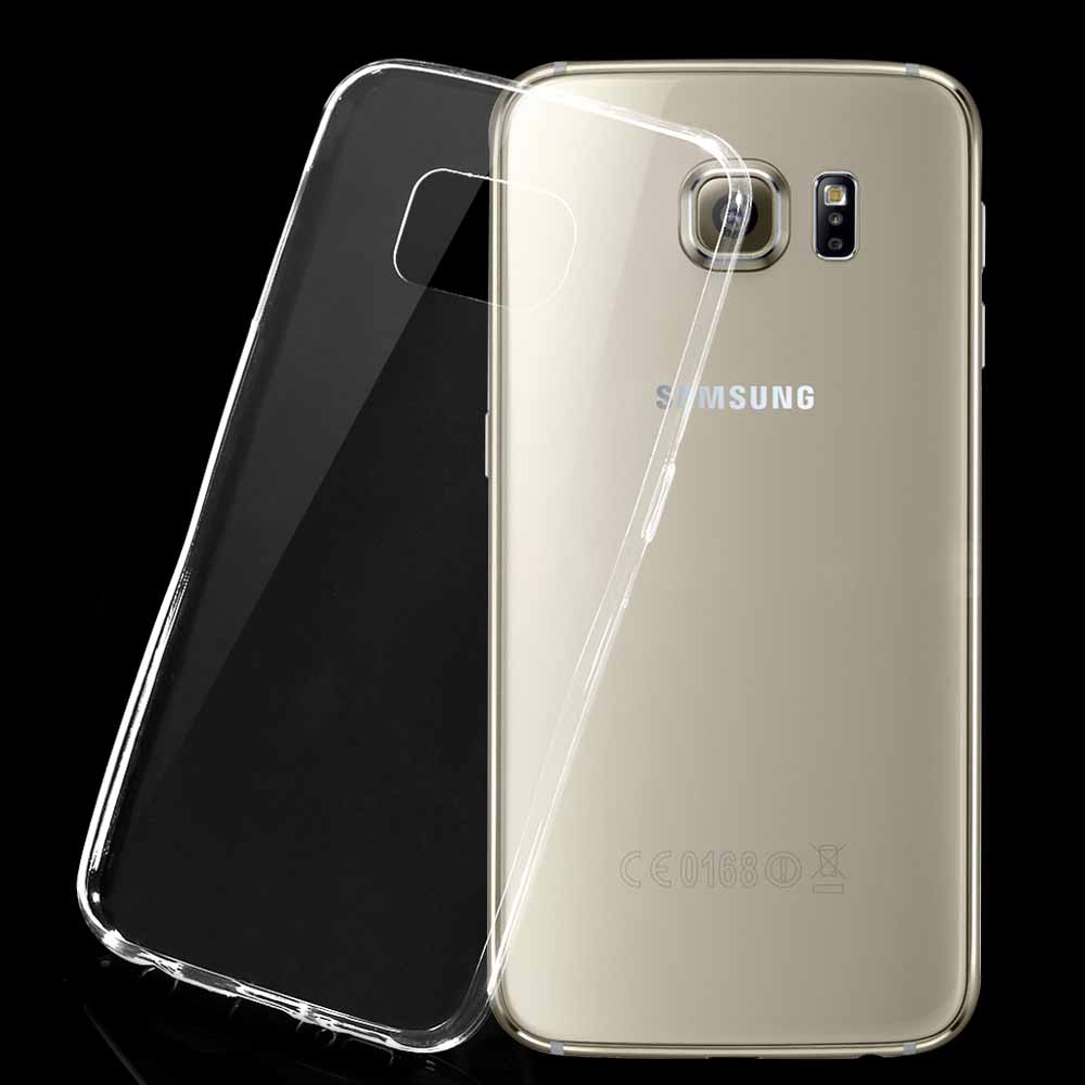 OEM Protector for Samsung Galaxy S6, Super slim 0.3mm, Silicone, White, Transperant - 51325