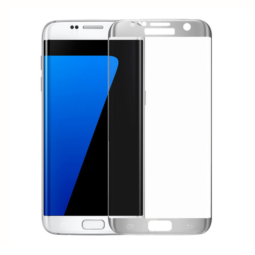 OEM Fullscreen Glass protector For Samsung Galaxy S7 Edge, 0.3mm, Silver - 52286