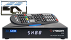 OCTAGON SX88 4K UHD S2 + IP HDMI USB CARD READER H.265 STALKER IPTV MULTISTREAM RECEIVER BLACK