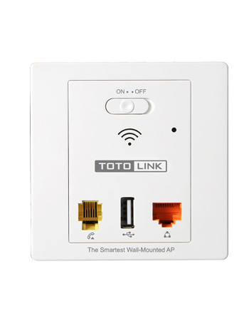 TOTOLINK WA300 AP0157 300Mbps In-wall Wireless Access Point