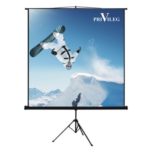 "PRIVILEG TRV160 Manual Projection Screen COMPACT 80"", 1.60x1.20m, 4:3, Tripod"