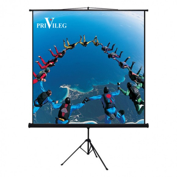 "PRIVILEG TRW180 Manual Projection Screen COMPACT 81"", 1.80x1.02m, 16:9, Tripodpod"