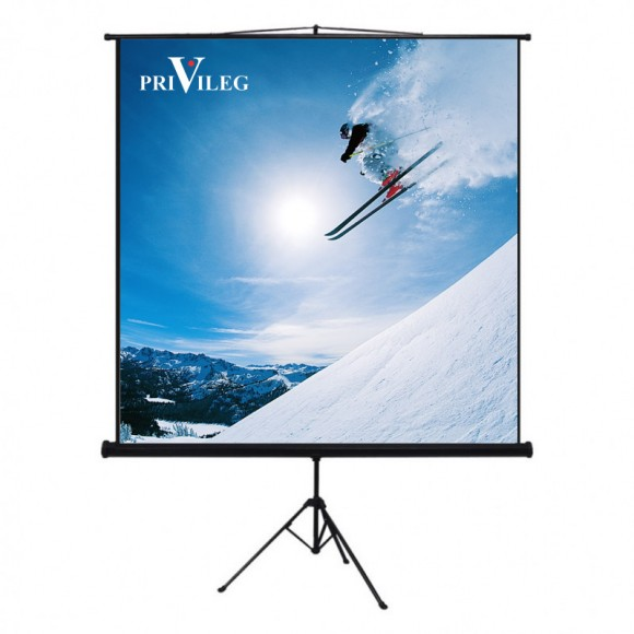 "PRIVILEG TRV220 Manual Projection Screen COMPACT 110"", 2.20x1.65m, 4:3, Tripod"