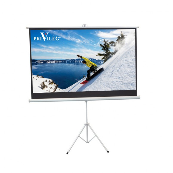 "PRIVILEG TRW240 Manual Projection Screen COMPACT 108"", 2.40x1.35m, 16:9, Tripod"