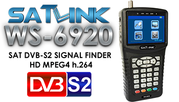 SATLINK WS-6920 HDTV DVB-S2 SAT FINDER