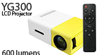 YG300 LCD Mini Pocket Portable LED Projector Home Cinema